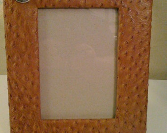 5X7  leather covered picture frame