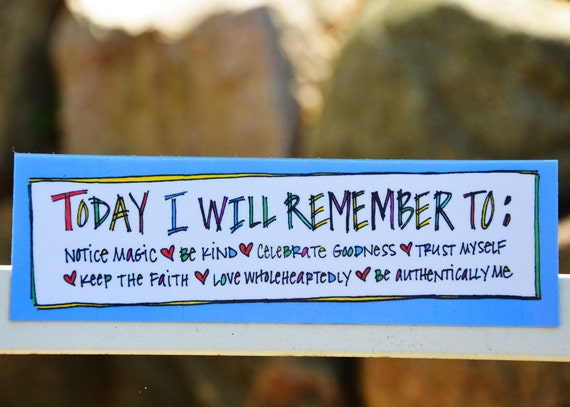Motivational Bookmark-Magnet: Today I Will