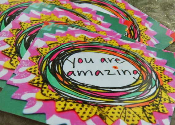 Postcard Set - You Are Amazing (4 Pack)