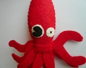 Felt Ornament Funny - Giant Squid