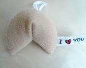 Felt Ornament Fortune Cookie Christmas decoration for tree home or office