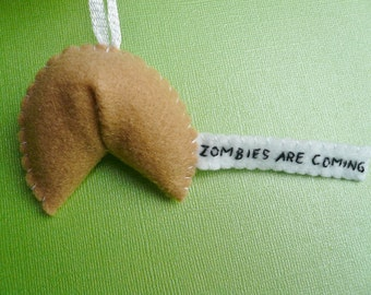 Zombie Fortune Cookie - Funny Ornament