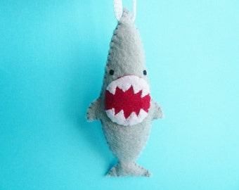 Handmade Ornament - Ferocious Shark