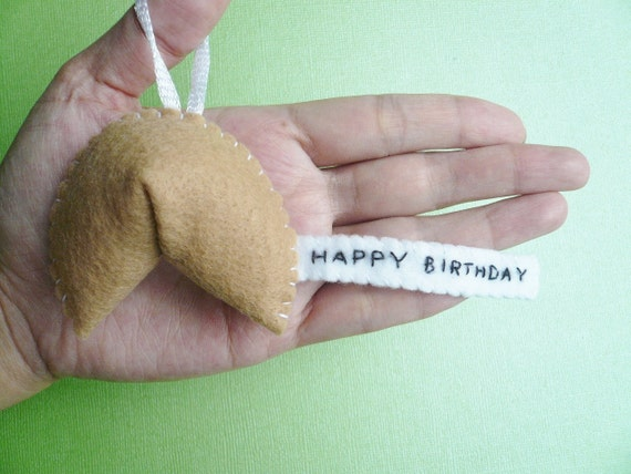 Birthday present handmade ornament