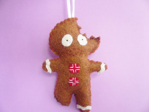 Items similar to Gingerbread Man Christmas ornament, funny ...