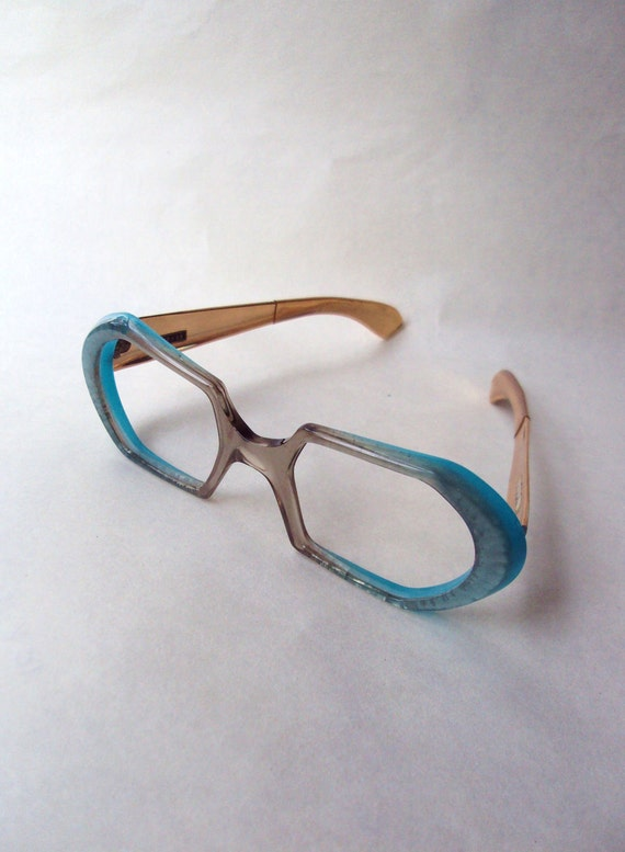 1960s MODE blue lucite spectacle frames