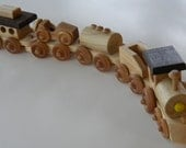 Wooden Toy Cho-Cho Train -- Handmade Keepsake