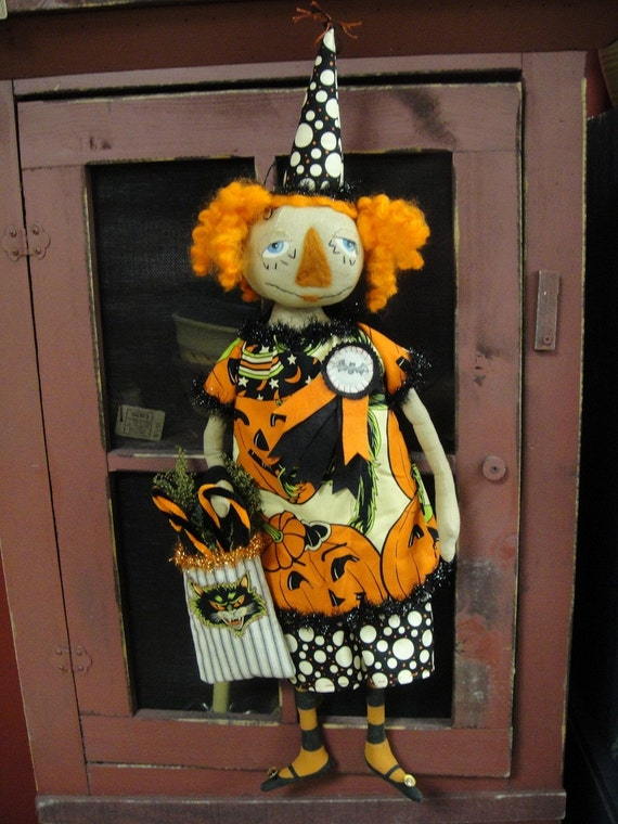 Primitive Halloween Annie Doll