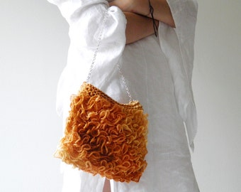 Tangerine bag, copper Purse, elegant bag