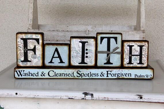 Decorative FAITH Word Blocks