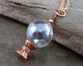 Crystal Ball Necklace By Metals And Time