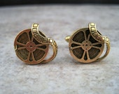 Antique Gold Steampunk Movie Buff Cuff Links
