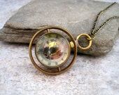 HP Inspired Time Turner  Steampunk Pocket Watch Necklace