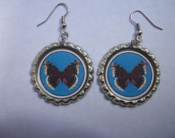 BOTTLE CAP EARRINGS - Butterfly