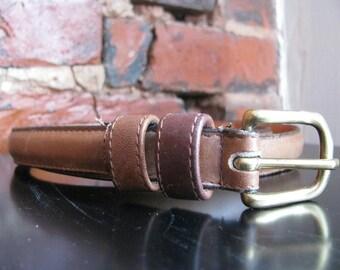 Vintage British Tan Leather Coach Belt, 30 inch