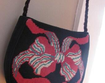 Vintage Needlepoint Shoulder Bag