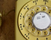 Vintage MUSTARD Yellow Bell System Rotary Phone