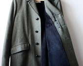 Vintage Men's TWEED Winter Dress Coat