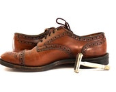 Vintage Mens Brown LEATHER  Dress Shoe Size 8 C