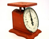 Vintage TANGERINE American Family Scale 25 lbs