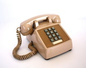reserved with express shipping Vintage BEIGE Push Button Phone