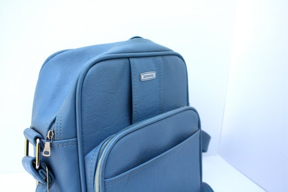 Vintage SKY Blue Samsonite Royal Traveller Bag