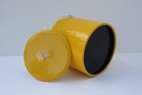 Vintage LEMON Yellow Ice Bucket by Shelton-Ware