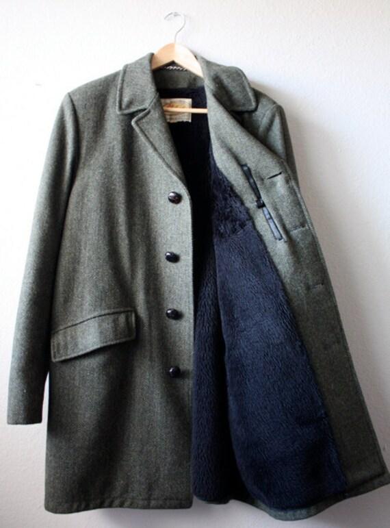 Vintage Men's TWEED Winter Dress Coat