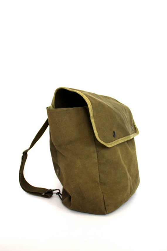 Vintage ARMY Green Day Trip Backpack School Bag