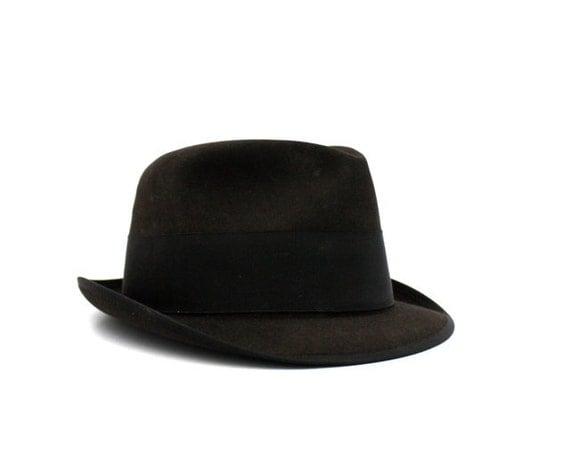 Vintage Deep CHOCOLATE Brown Men's Fedora Hat