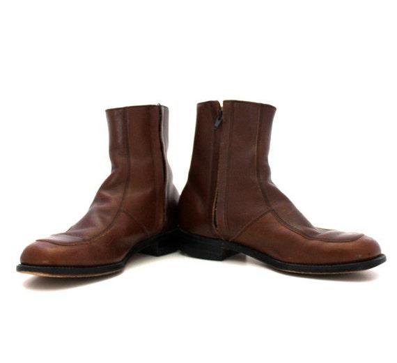 Vintage Brown Men's BEETLE Boots Size 8 1/2D