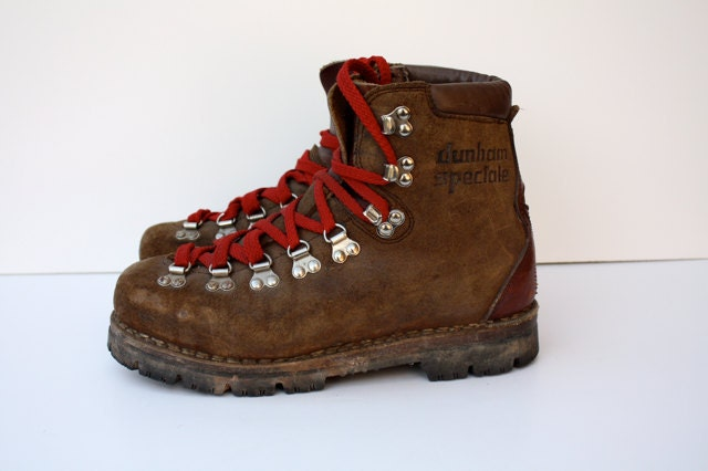 vintage dunham leather hiking boots