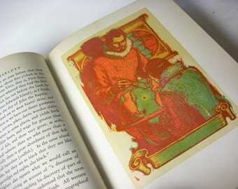 "Beautiful Vintage Book ""Heroes from Hakluyt""  Illustrated with Many Original Woodblock Prints"