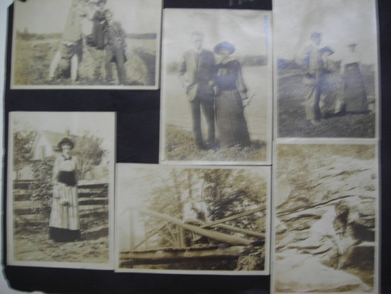 11 Vintage Photographs, Beautiful Women on Rocks, 1915
