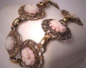 Antique Cameo Bracelet Vintage Victorian Art Deco Euro