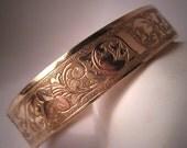 Antique Rose Gold Bangle Bracelet Vintage Victorian