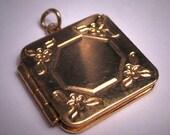 Antique Victorian Locket Vintage Gold Art Deco Floral