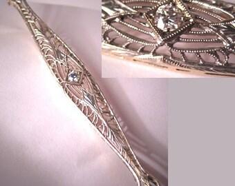 ON SALE 10% OFF Antique Platinum Diamond Brooch Vintage Art Deco Pin