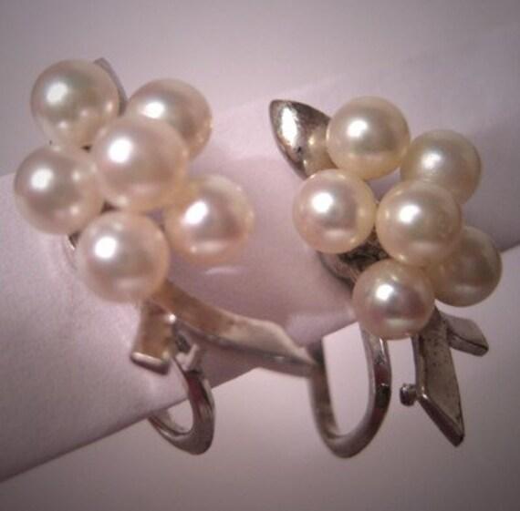 Vintage Estate Mikimoto Pearl Earrings