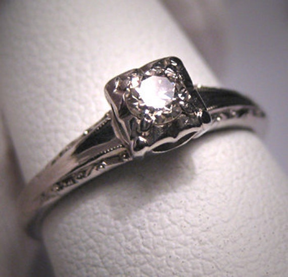 ON HOLD Antique Diamond Wedding Ring Vintage 18K Art Deco Jabel