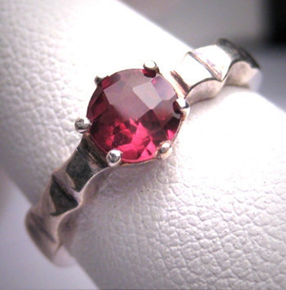 ON HOLD for P. Vintage Ruby Tourmaline Wedding Ring Estate Jewelry