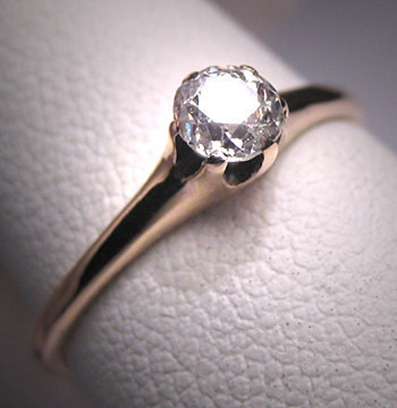 Antique Diamond Ring Mine Cut Wedding Ring 19th Century