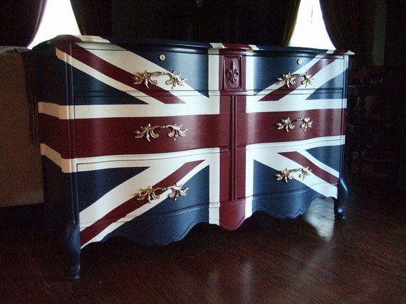 Waving Union Jack Dressers / Buffets