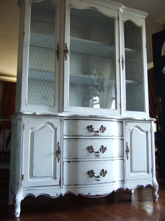 French Country Hutch in our Antique Paris White finish