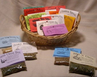Total listing of ALL Home Grown Dry HERB MIX for cooking, dip, dressing, sauce, rub and salsa