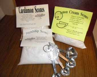Set of 3 Dry Scone Mix, hand-blended, herb-infused, easily makes 36 scones