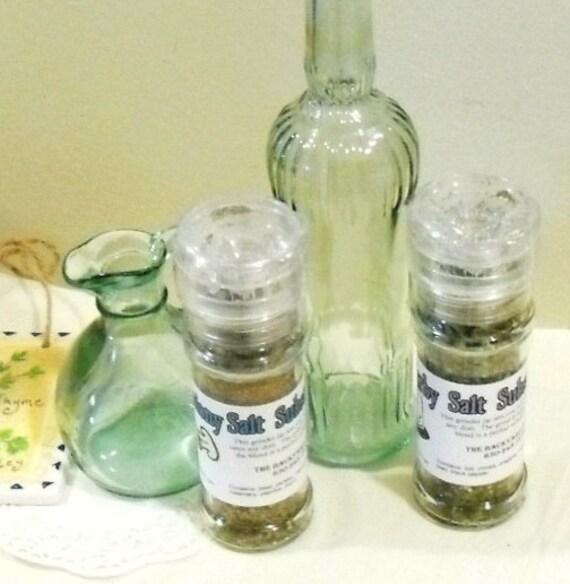 Salt Substitute in a Grinder Jar, dry herb seasoning, gluten free, salt free, herbal