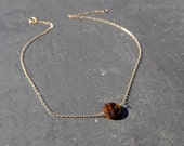 Sun and Sand - Tiger's Eye Delicate Donut Necklace