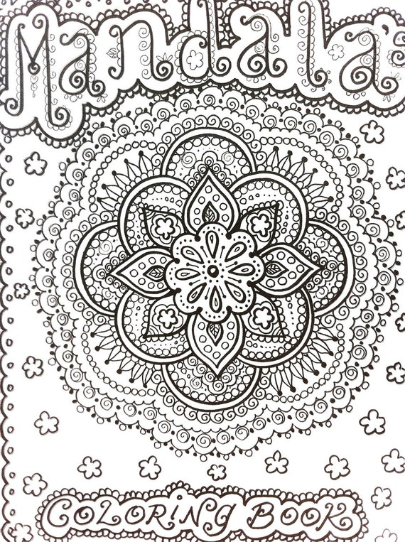 Color Henna Designs: COLORING BOOK Mandalas Henna Style Coloring Book By