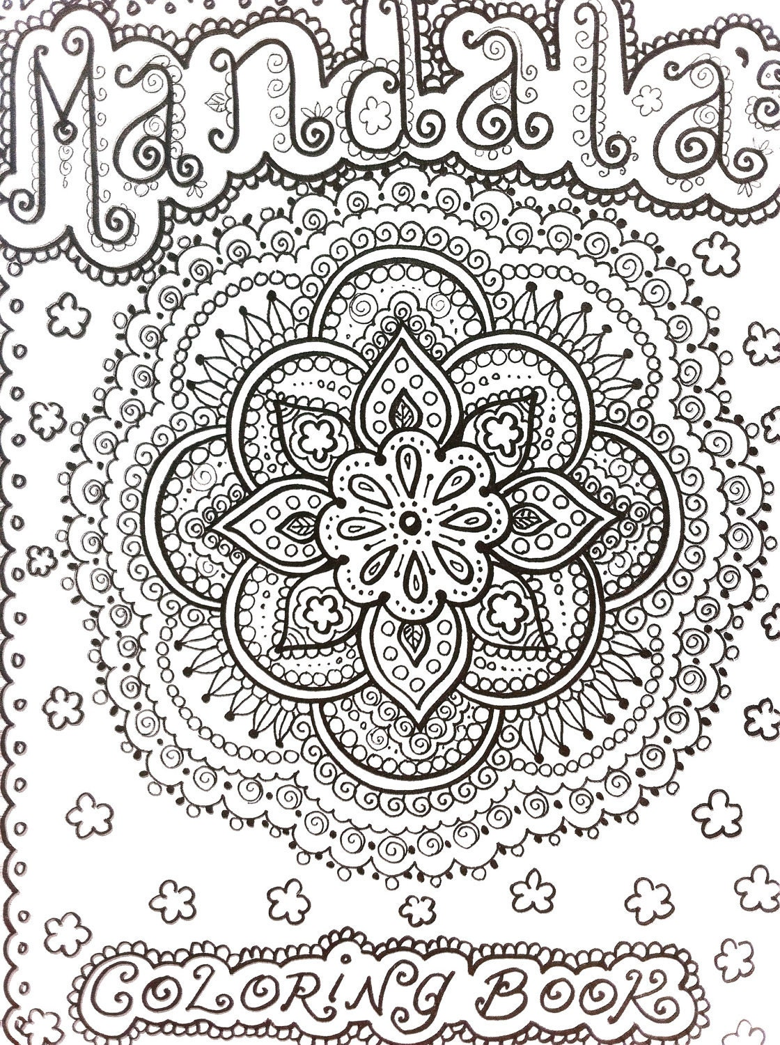COLORING BOOK Mandalas Henna Style Coloring Book By